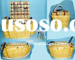 Bamboo picnic basket for 4 persons