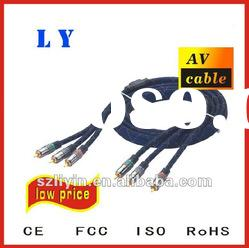 Best quality Composite Video Cable/coaxial video cable/rca to rca cable