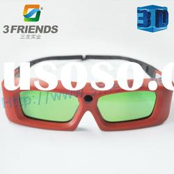Best selling active shutter 3d glasses for cinema with low consumption and changeable battery