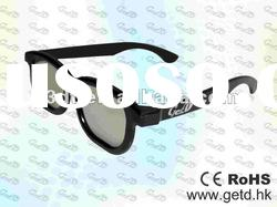 Black 3D TV Plastic Circular polarized 3D glasses