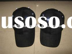 Black baseball cap with led light