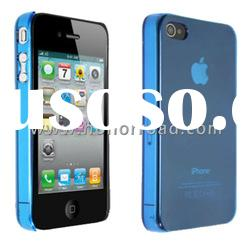 Blue Ultra Thin Crystal Cover Case for the iPhone 4
