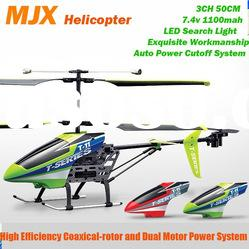 Christmas Gift MJX T11 T-11 50cm 3.5ch Large Metal Gyro 3D Full fFight with Lights RC Helicopter
