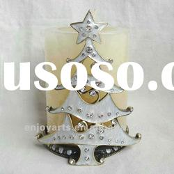 Christmas Tree Design Metal Candle Holder