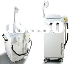 Comfort beauty equipment with IPL system for hair removal and skin