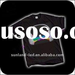 Competitive price t-shirts with led