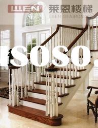 Costume Solid Oak Wooden Stairs, Straight Stairs