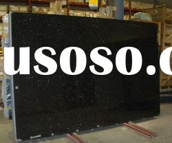 Cut-to-size black galaxy granite slab
