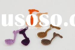 DD01041 Hand Crochet Fashion Accessories Music Flowers Appliques Cotton flower making craft