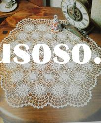 DD03025 Handmade Crochet Table Lace Round cotton Doilies Cup Coaster Mat