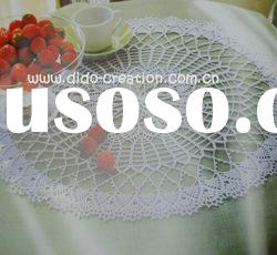 DD03037 Handmade Crochet Table Lace Round cotton Doilies Cup Coaster Mat