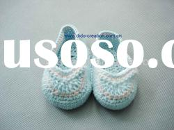 DD07006 Handmade Crochet Baby Shoes 100% cotton Eco friendly