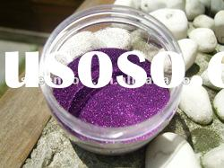 Deep Purple Hexagon Glitter Powder used for Birthday Card 1/128""