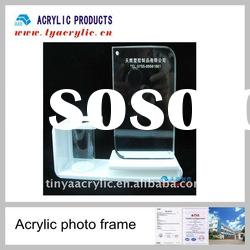 Desktop acrylic magnetic photo frames with pen container
