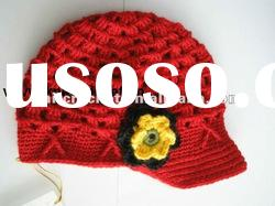 Direct Factory Fashion Newsboy Crochet Baby Kids Hat with Crochet Flower KCC-TM00108