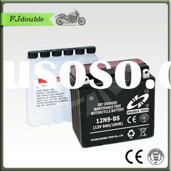 Dry Charged MF Sealed Lead Acid Rechargeable Motorcycle Battery 12N7L-BS(12V 7AH)