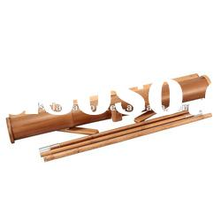 ECO-friendly bamboo roll up stand/banner stand with double strong oxford bag