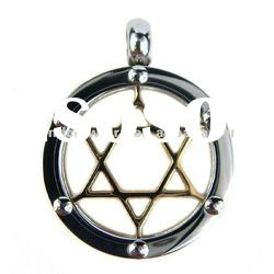 Fashion 316L Stainless steel Hollow star circle pendant charm