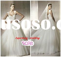 Fashion W-1157 sleeveless ball gown lace style bridal wedding dress