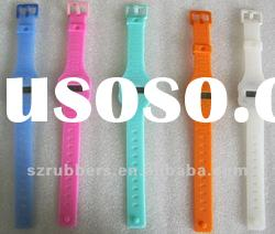 Fashion colorful superthin silicone electronic watch