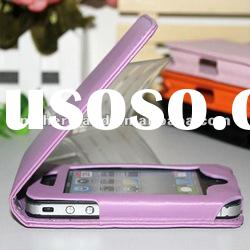 For iPhone 4S& iPhone 4 4G Leather case with High Quality