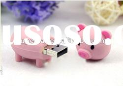 Funny gift Pig usb stick animal shaped cartoon pig usb128mb-32gb