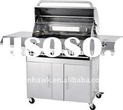 Gas BBQ Grill with side burner and infrared burner