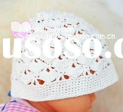 H05C032B Handmade fashion Crochet Baby's knitted Hats Cotton Hat Beanie Cap