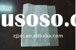 HDPE natural flat plastic bags on roll