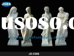 Hand Carved White Marble Four Seasons Statues 2012