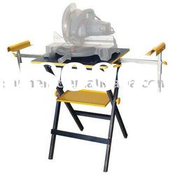 Height adjustable miter saw stand