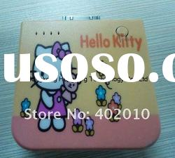 Hello Kitty External Mobile Phone Battery Charger With 1900MAH For Iphone 4