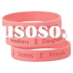 High Quality Solid Color Silicone Bracelet With Debossed Logo