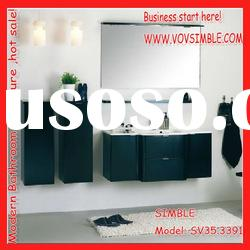 High gloss wall bathroom cabinet designs,bathroom vanity set with shelves