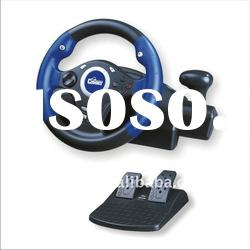 Hot sale vibration feedback racing wheel for PC USB PS2 PS3