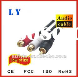 Hot selling audio cable to male ,3RCA cable,multimedia cable