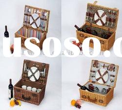 Hot selling willow picnic basket for 4 persons