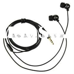In-Ear Earphone Headphone With Mic And Remote Metal For iPhone iPod iTouch Black