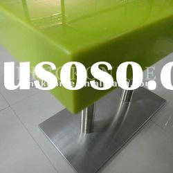 KKR Green Acrylic Solid Surface Canteen Table