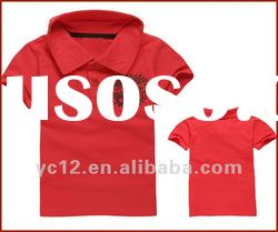 Kids Fashion Design 100% Cotton Summer Polo T-shirt