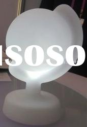 LED globe shape battery operated table lamp