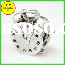 Large Hole Metal Clock Shape Jewelry Finding Beads (FB-P0236)