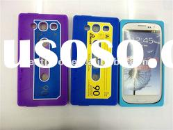 Larger stock Cassette tape Silicone Rubber case for samsung galaxy s3 i9300 Mixed colors