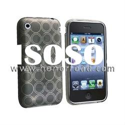 Light Grey Circle SOFT Crystal TPU Gel Case Skin Cover for iphone 3g,Compatible With iPhone 3G 3GS