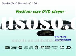 Medium size DVD player with USB,SD card and MIC port
