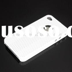 Mesh Style Plastic Net Skin Snap On Hard Back Cover Case for iPhone 4 4G 4S accept paypal
