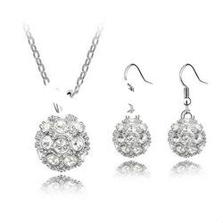 Metal Ball Shaped Necklace and Earring Sets/Fashion Jewellery 4587-4592