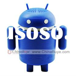 Mini USB Android Robot Shape Speaker for Latop Tablet PC MP3 Blue