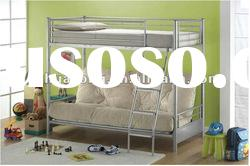 Modern single bunk bed with sofa bed