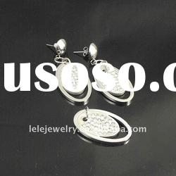 New Designs 2011 Stainless Steel Fashion Jewelry Set With Crystal